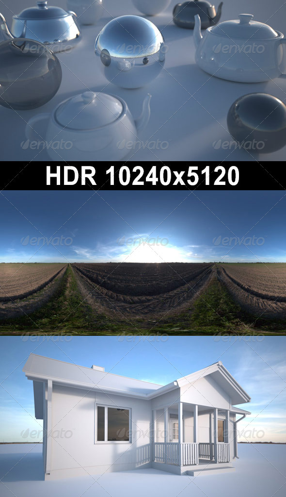 3DOcean Acre Afternoon HDR 02 CG Textures -  HDRI Images  Exterior  Sky  Daylight 1370066