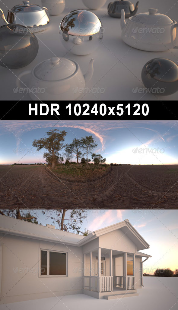 3DOcean Acre Afternoon HDR 03 CG Textures -  HDRI Images  Exterior  Sky  Daylight 1370068
