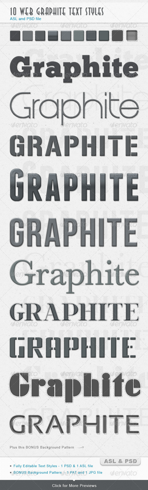 Graphic River Graphite Text Styles Add-ons -  Photoshop 1505747