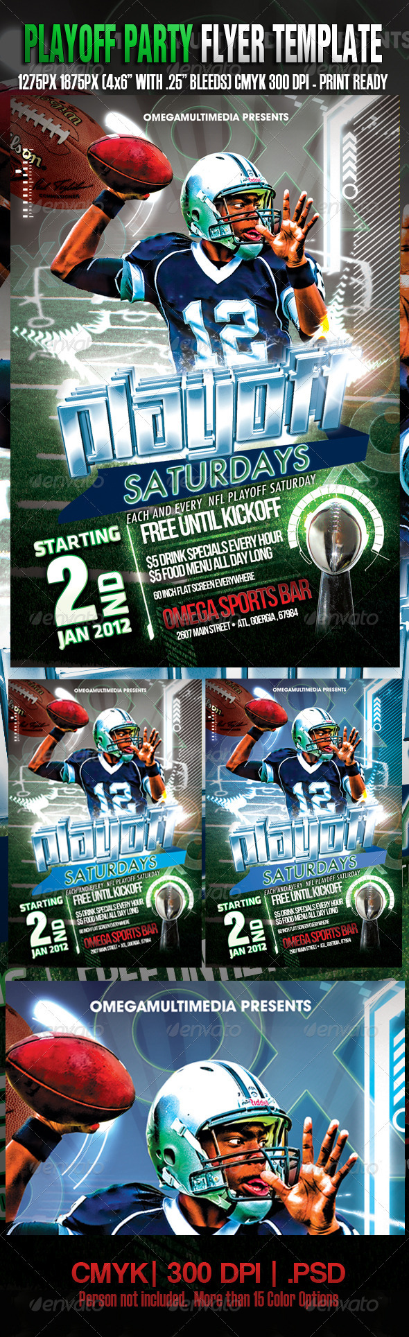 Graphic River Playoff Saturdays Template Print Templates -  Flyers  Events  Sports 1041978