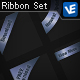 6 Stylish and Easy to Edit Ribbons - GraphicRiver Item for Sale