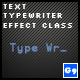 Text Typewriter Effect Class - ActiveDen Item for Sale