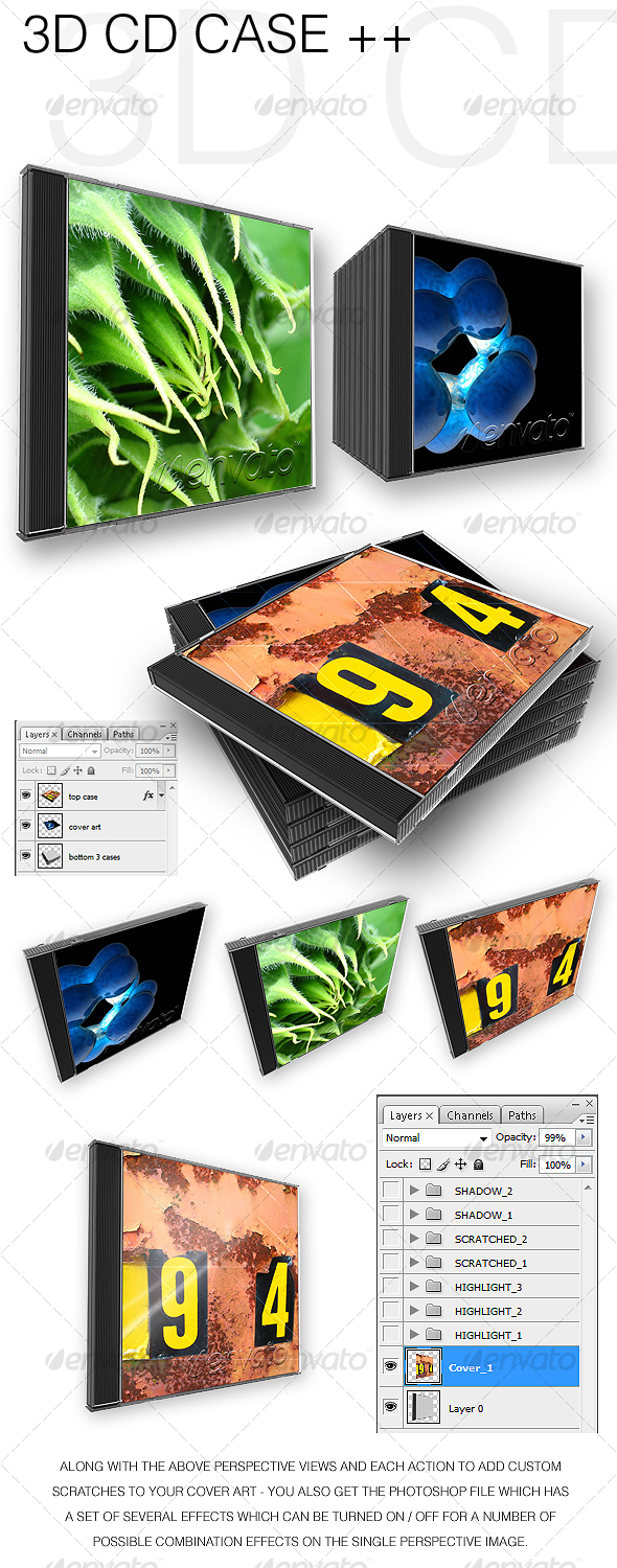 GraphicRiver 3D CD Cases && 59626