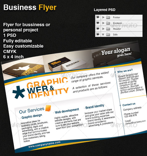 GraphicRiver Bussiness flyer 59646