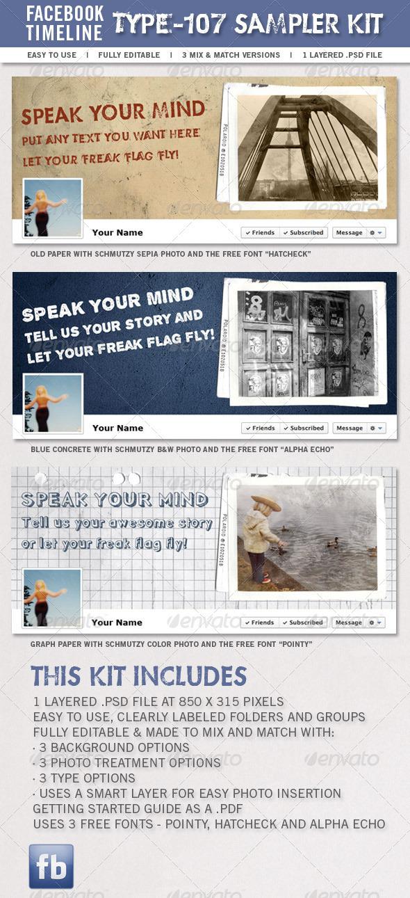 GraphicRiver Type-107 Facebook Timeline Sampler Kit 1483841