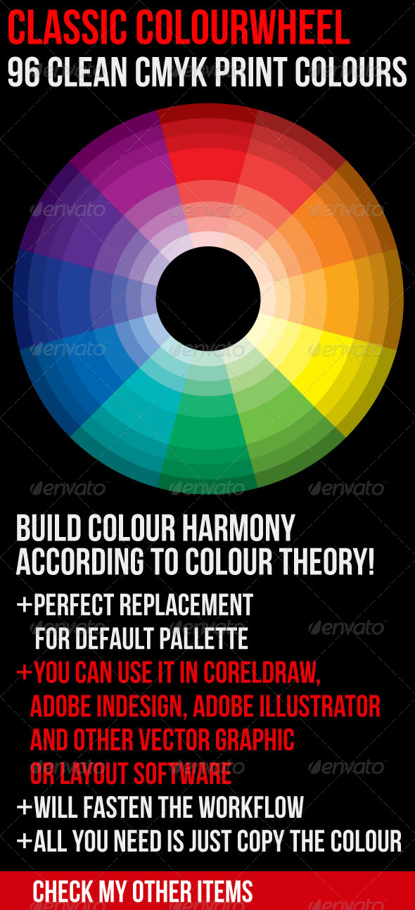 GraphicRiver Classic Color Theory Wheel 96 Clean Print Colours 179184