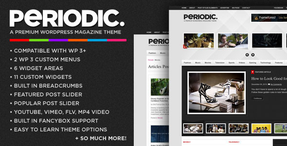 ThemeForest Periodic A Premium WordPress Magazine Theme 146174