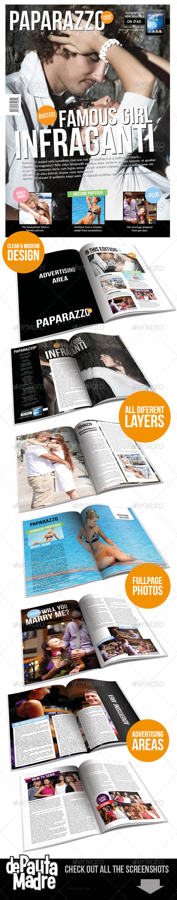 Graphic River Paparazzo Magazine Indesign Template Print Templates -  Magazines 1516301