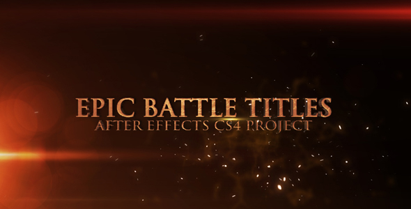 After Effects Project - VideoHive Epic Battle Titles 171735