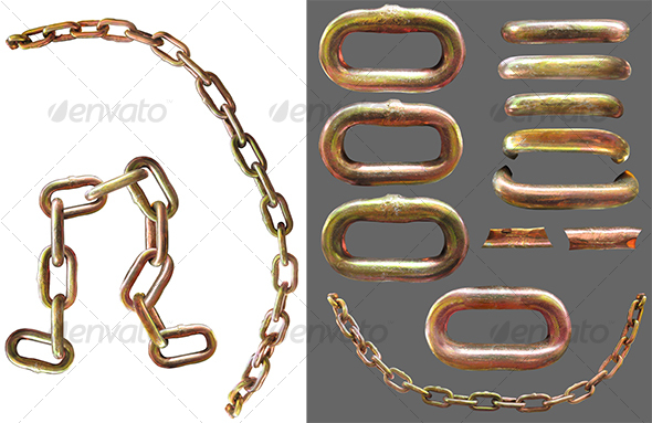 Graphic River Chain links Isolated Objects -  Industrial & Science 59790