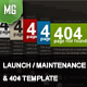 Dark 404 / Maintenance / Launch Page - ThemeForest Item for Sale