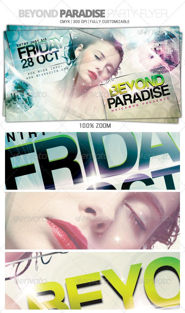 GraphicRiver Beyond Paradise Flyer 599564
