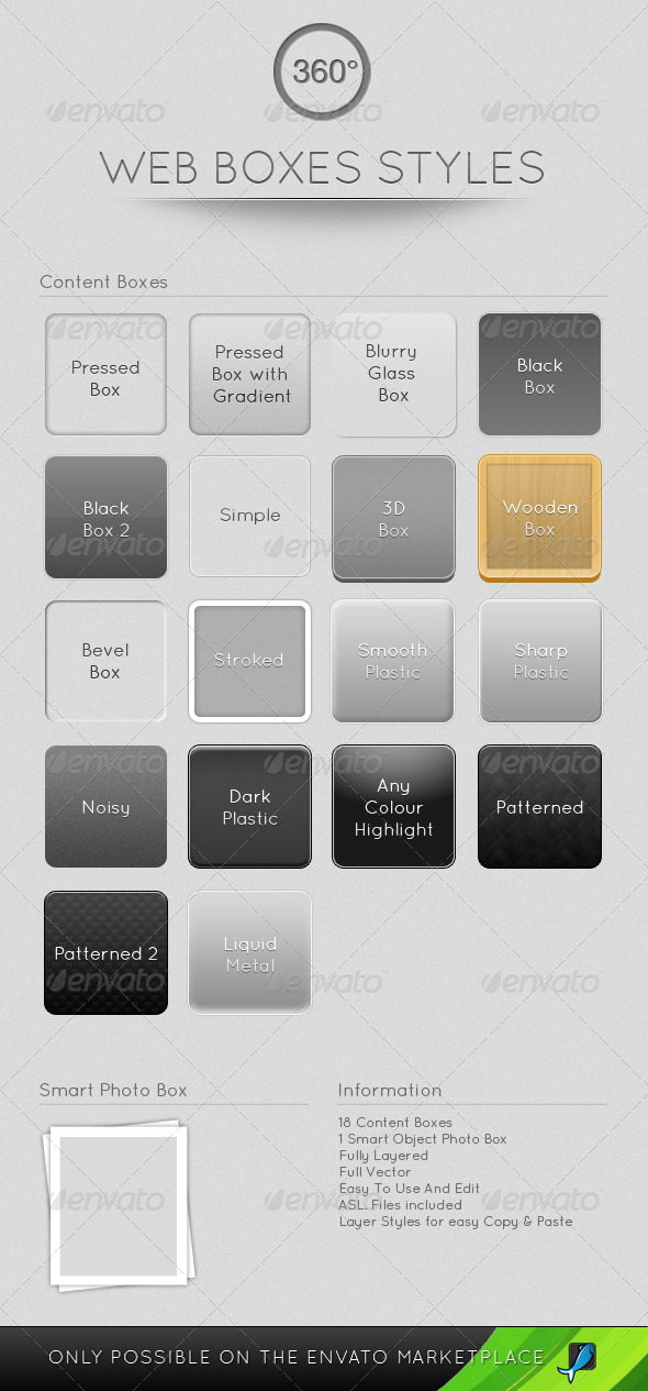 GraphicRiver Web Boxes Styles 159140