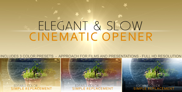 After Effects Project - VideoHive elegant cinematic opener 179772