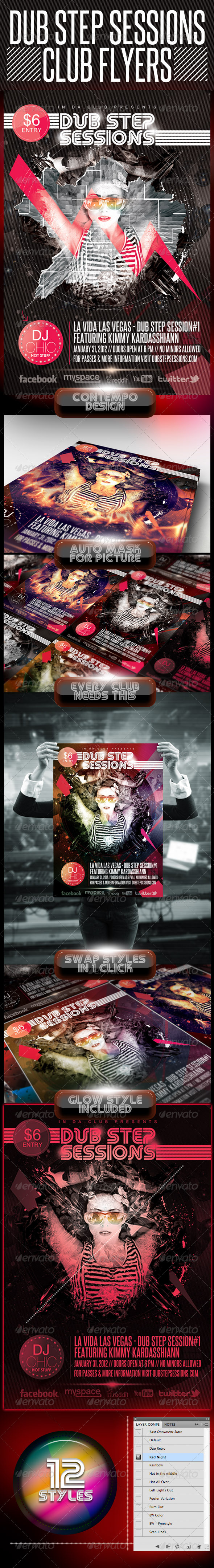 GraphicRiver Dubstep Session Club Flyer 1502216