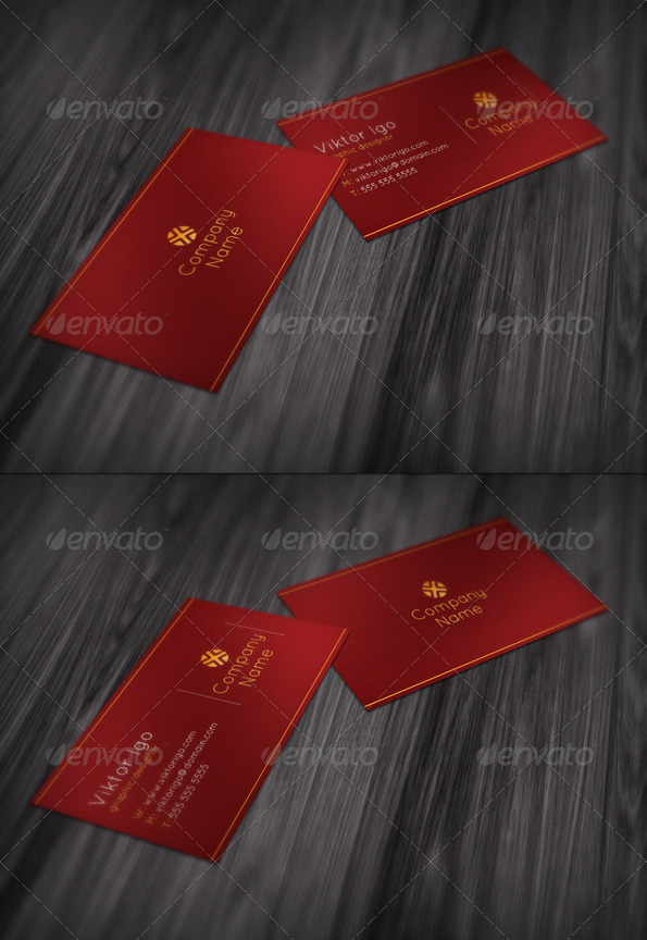 GraphicRiver Red Modern Business Card 1520942