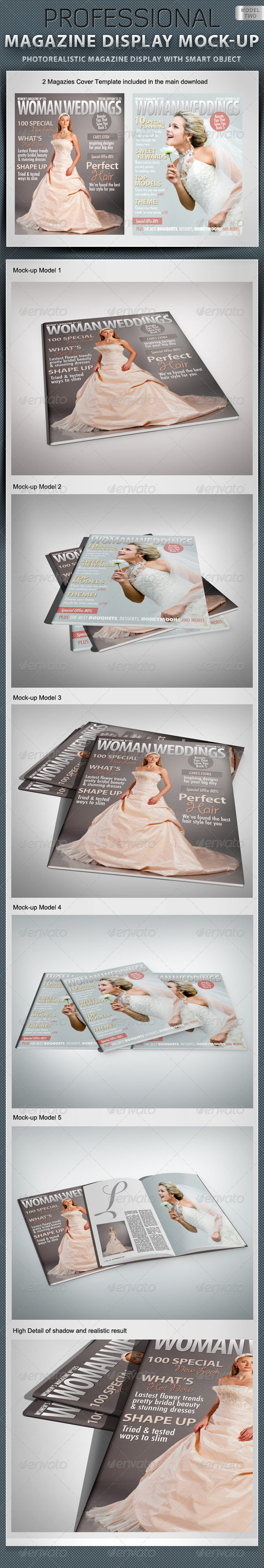 GraphicRiver Professional Magazine Display Mock-up V2 1521254