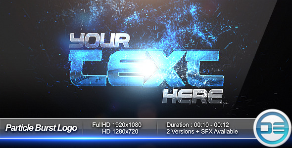 After Effects Project - VideoHive Particle Burst Logo Reveal 1523651