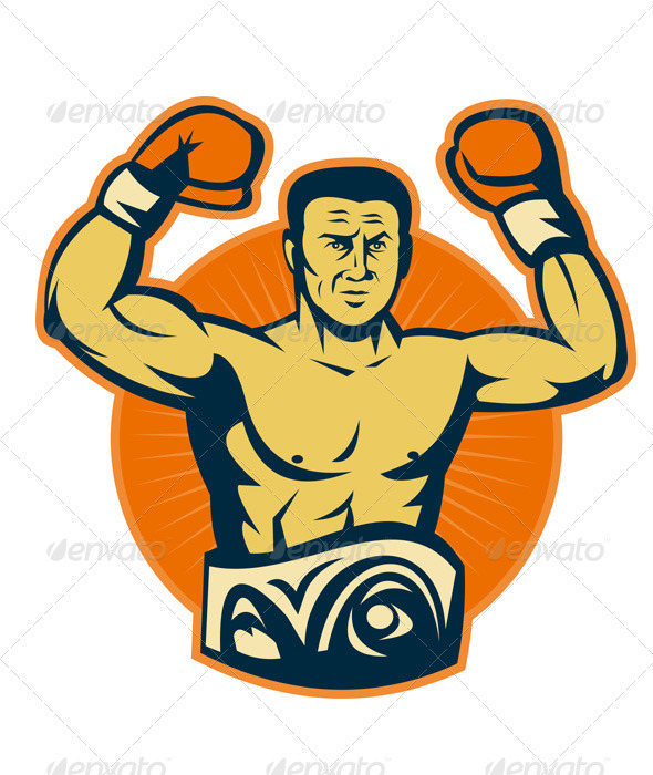 Graphic River Champion Boxer Boxing Retro Vectors -  Conceptual  Sports/Activity 1524522