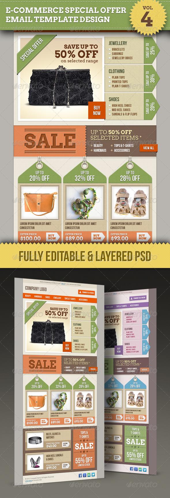 GraphicRiver E-commerce Offers Email Template Design Vol.4 1524638