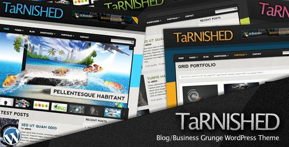 ThemeForest - Tarnished: Blog/Business Grunge WordPress Theme