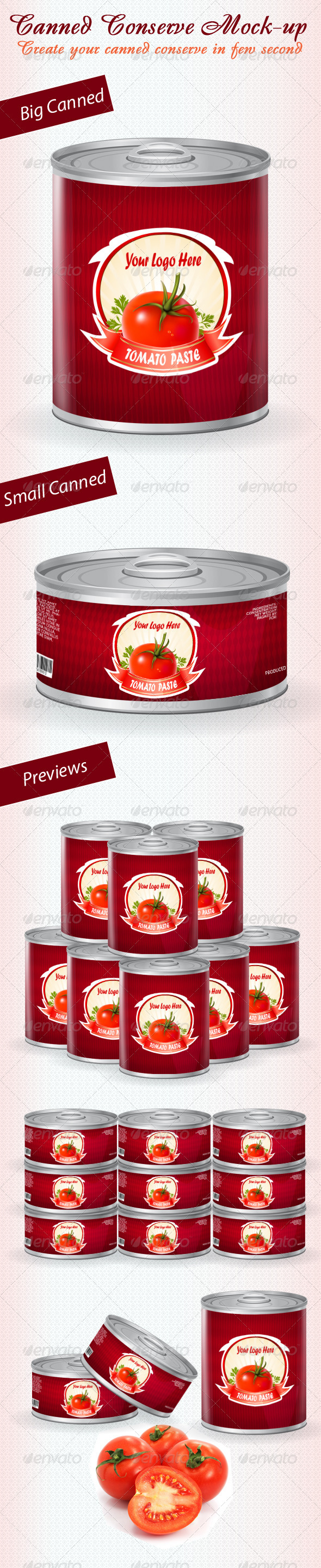 GraphicRiver Canned Conserve Mock-up 460077
