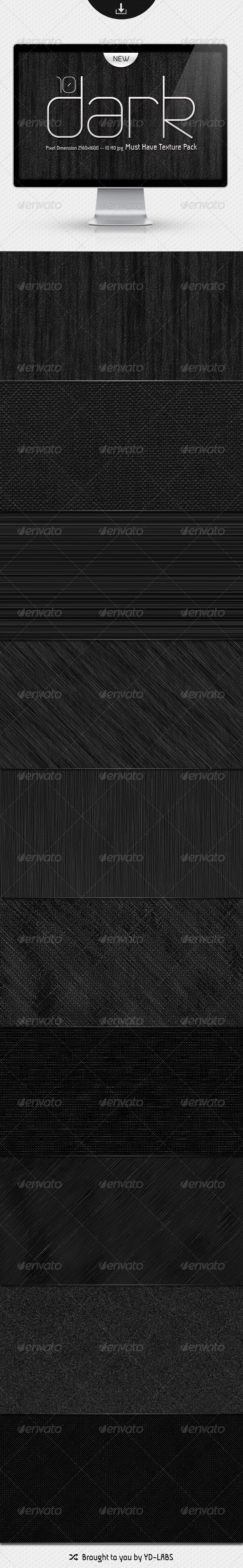 GraphicRiver 10 Dark Must Have Textures Pack 1529444