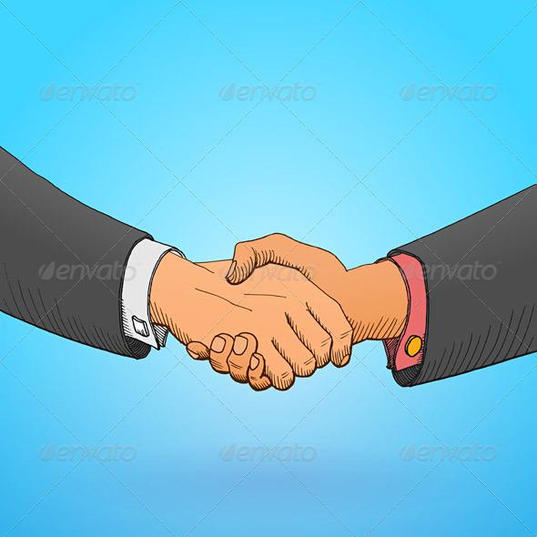 GraphicRiver Handshake Illustration 1529447