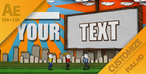 VideoHive Cartoon Casual Typography Presentation 1530098