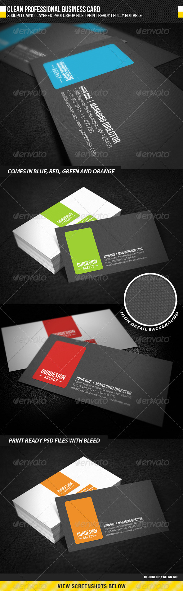 GraphicRiver Clean Professional Business Card 1530539
