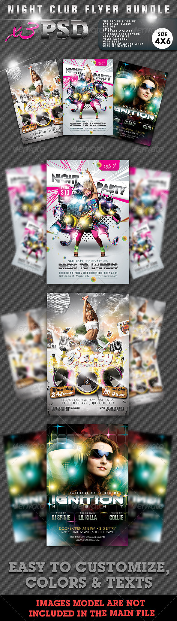 GraphicRiver Night Club Flyer Bundle #02 1530635