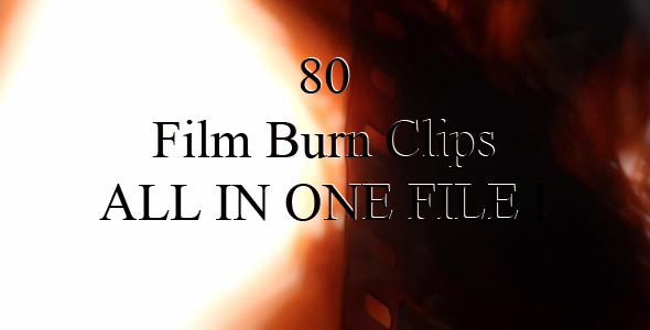 VideoHive Film Burn 80 Clips Pack 1530944