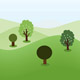Landscape Background With Trees - GraphicRiver Item for Sale