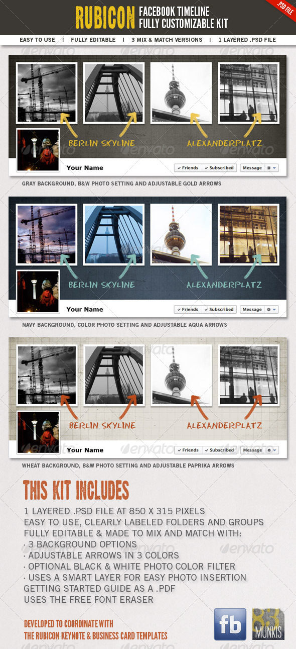 GraphicRiver Rubicon Facebook Timeline Kit 1531410