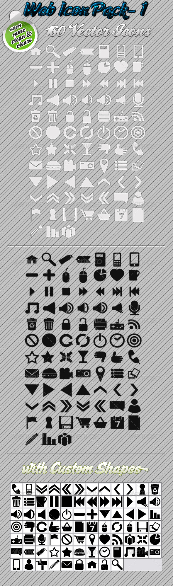 GraphicRiver Web Icon Pack 105940