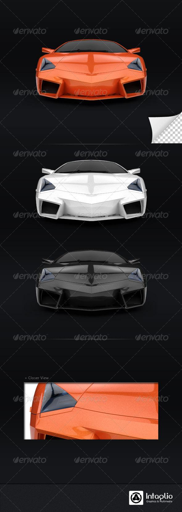 GraphicRiver Orange Car 3D Render 002 1533618