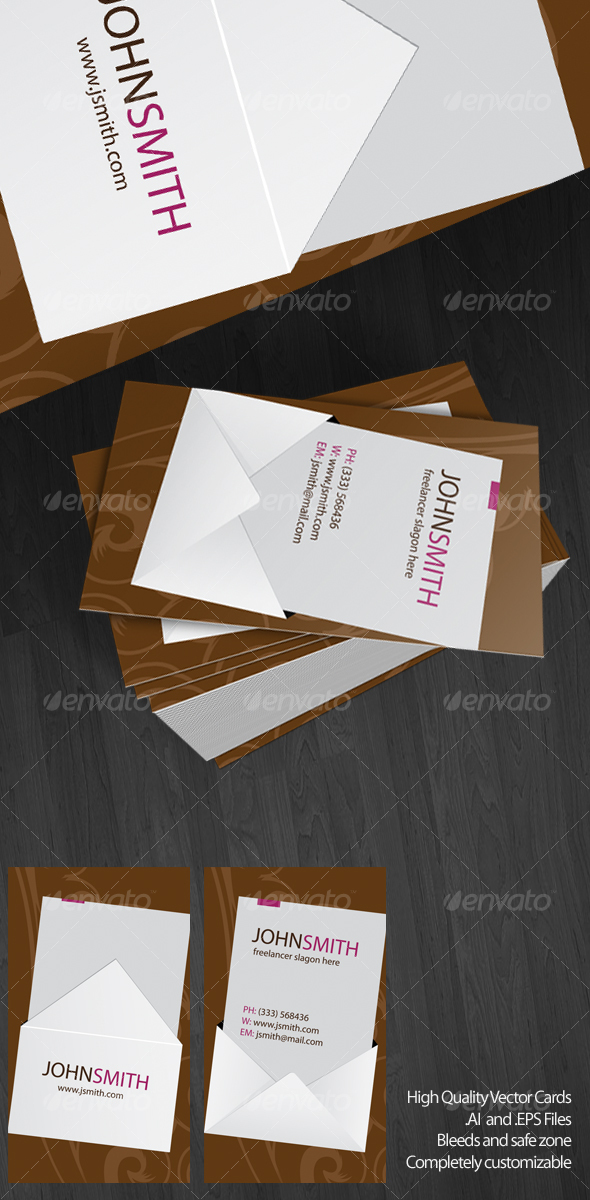 GraphicRiver Envelope Vector Card 58691