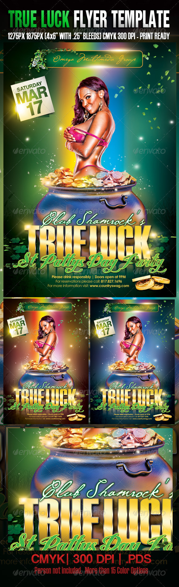 GraphicRiver St Patrick's True Luck Party 1535152