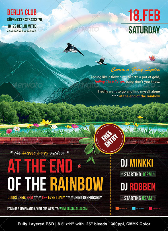 GraphicRiver At The End Of The Rainbow Poster Flyer 1523839