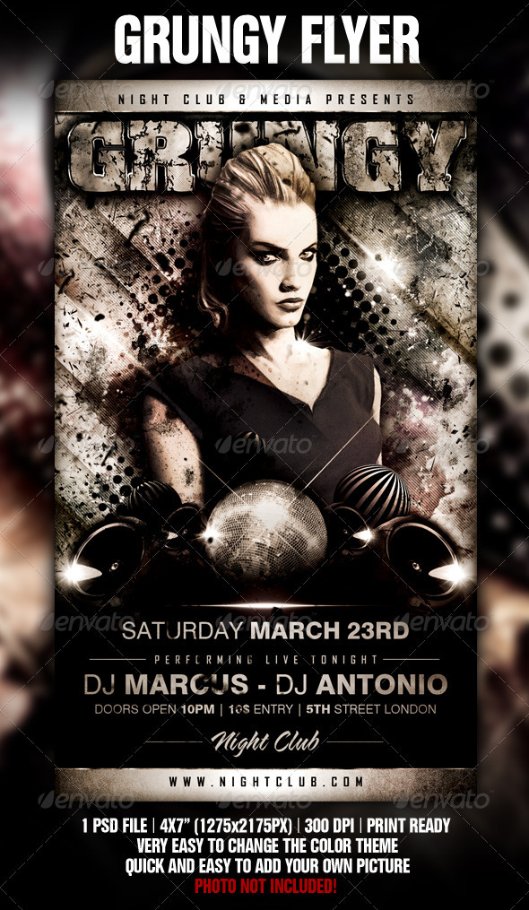 GraphicRiver Grungy Flyer Template 1536713