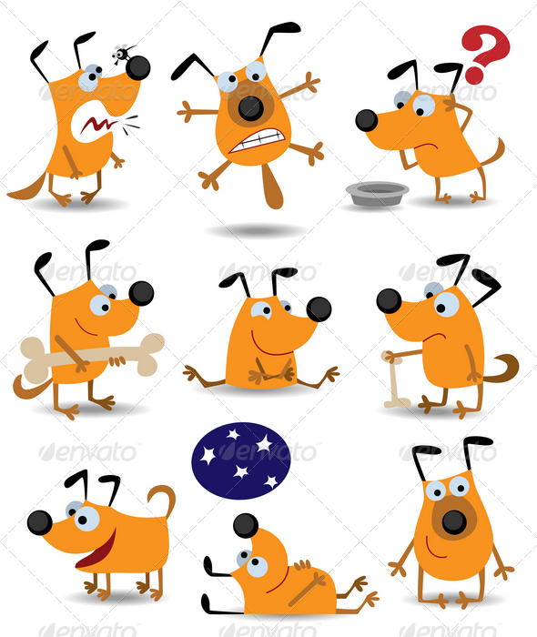 GraphicRiver Funny dogs 1538083