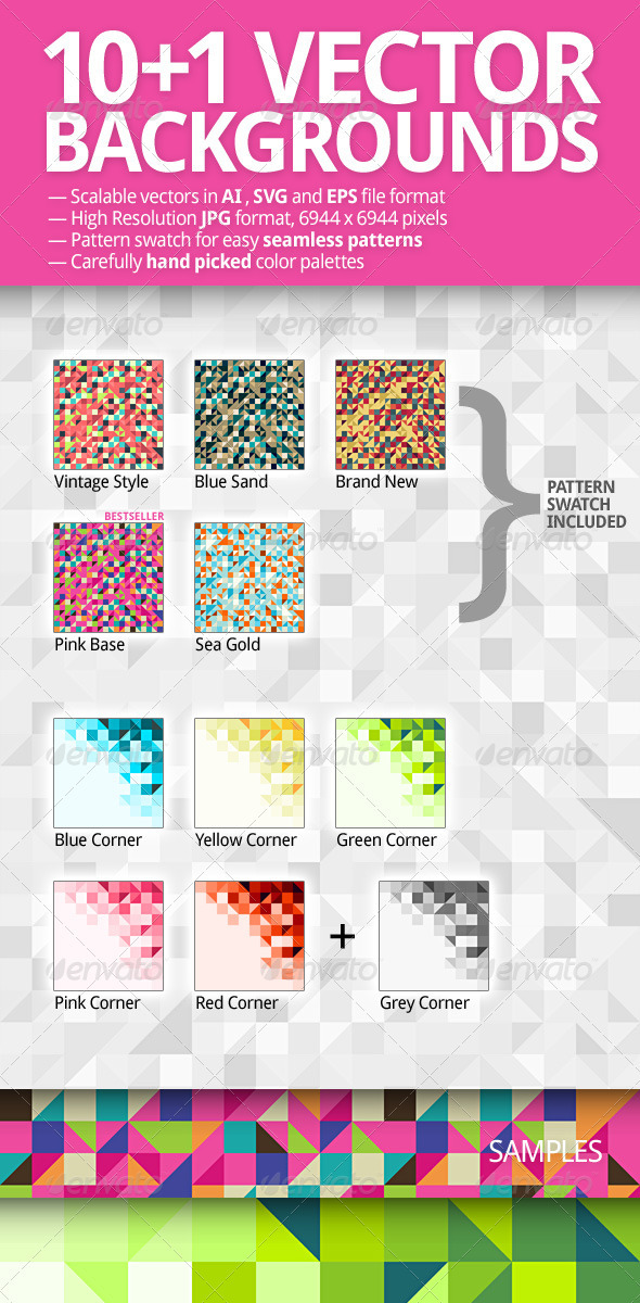 GraphicRiver 10&1 Vector Backgrounds Pack 1538414