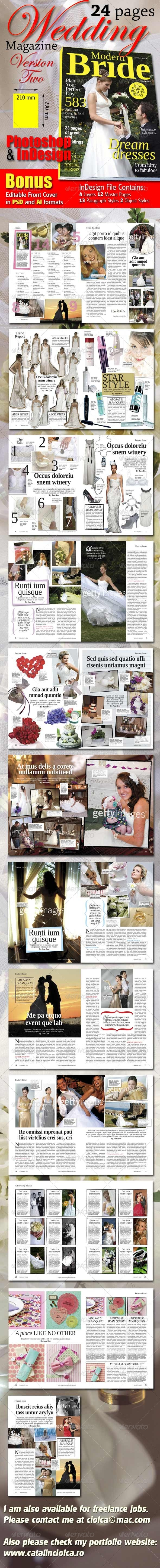 GraphicRiver 24 Pages Wedding Magazine Version Two 1538579