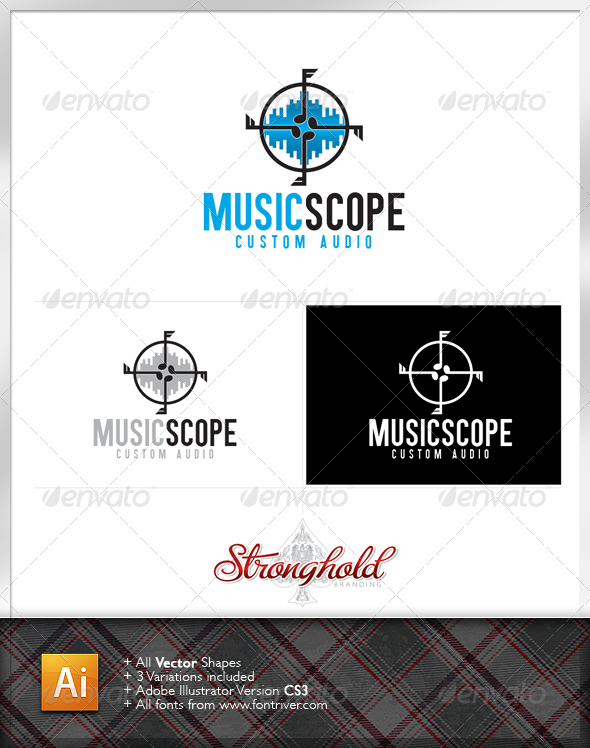 Graphic River Music Scope Logo Logo Templates -  Symbols 1538831