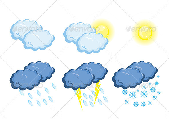 Graphic River Weather icons Vectors -  Conceptual  Nature 1539868