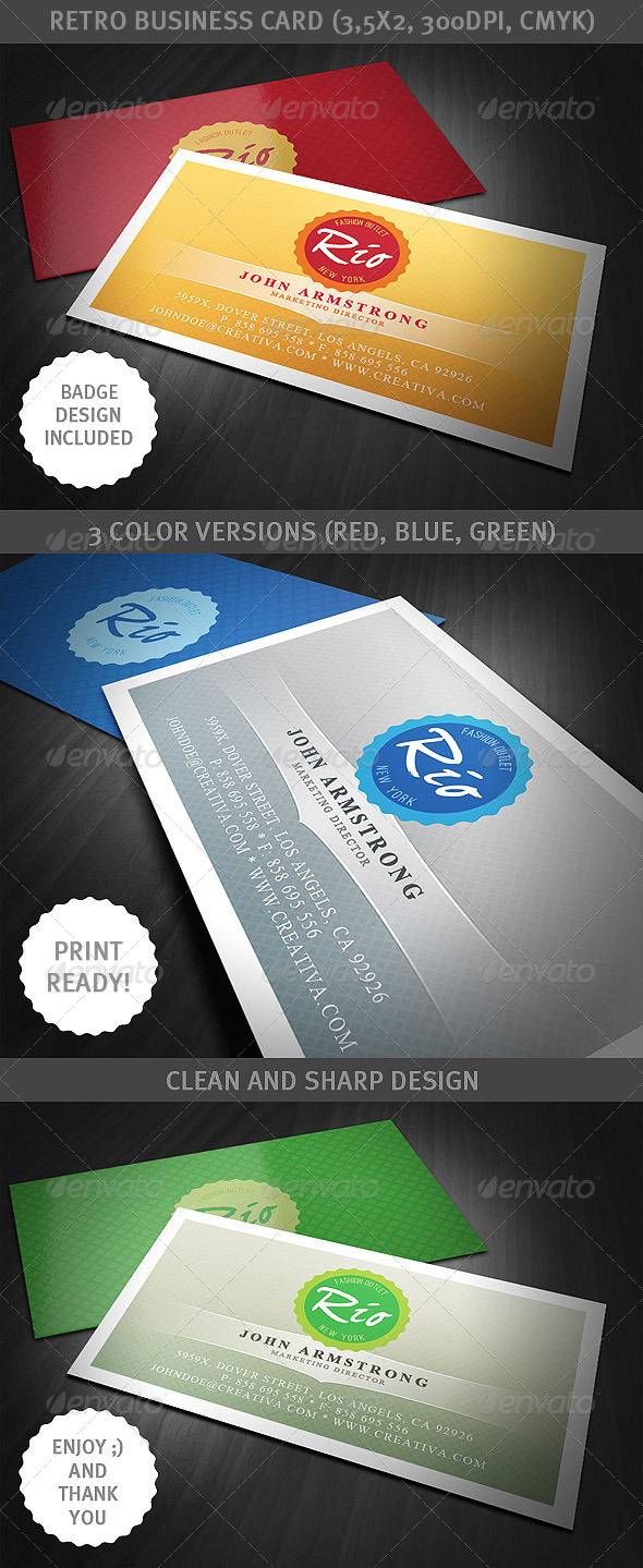GraphicRiver Retro Business Card 1540497