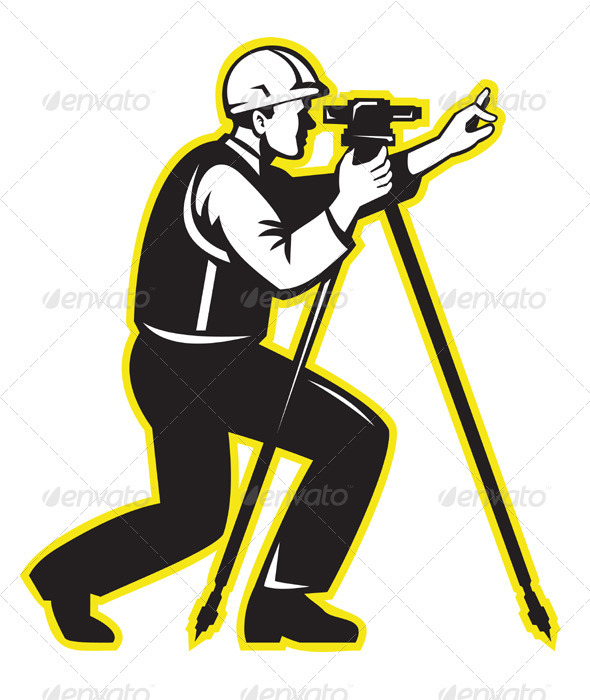 Graphic River Surveyor Engineer Theodolite Total Station Vectors -  Characters  People 1541186