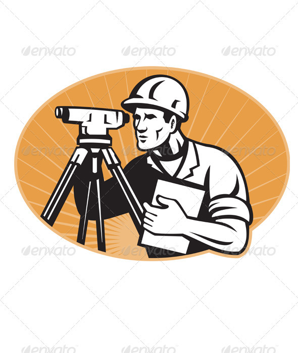 Graphic River Surveyor Engineer Theodolite Total Station Vectors -  Characters  People 1541190