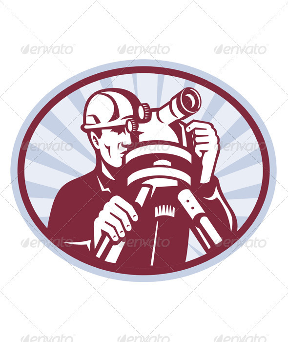 Graphic River Surveyor Engineer Theodolite Total Station Vectors -  Characters  People 1541201