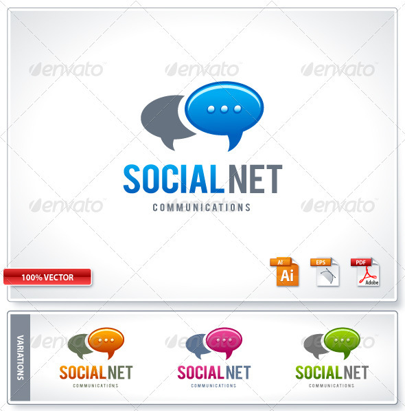 GraphicRiver Social ommunication logo template 1541356